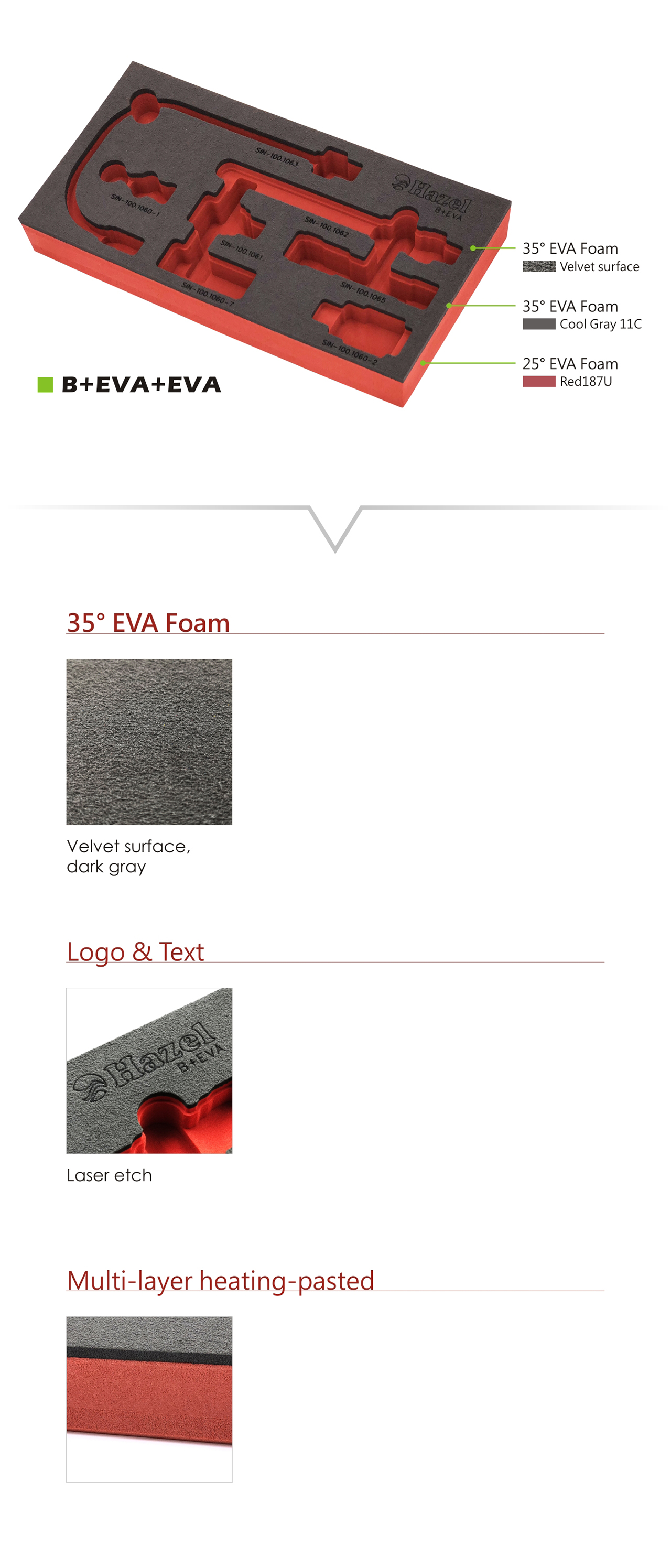 Velvet EVA Foam tray - Products - Best Friend Enterprise Co
